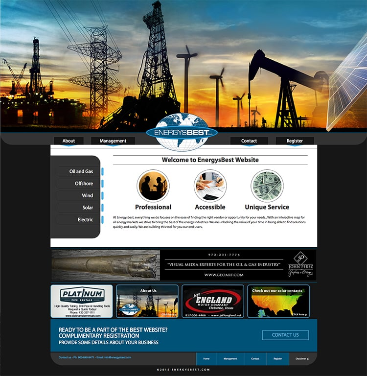 Websites Oil and Gas – Page 2 of 3 – John Perez Graphics