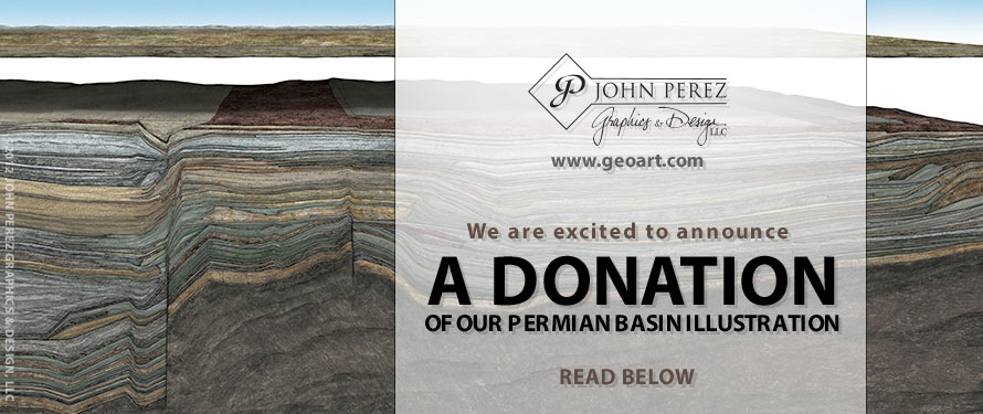 A DONATION OF OUR PERMIAN BASIN ILLUSTRATION, permian basin, oil gas graphics