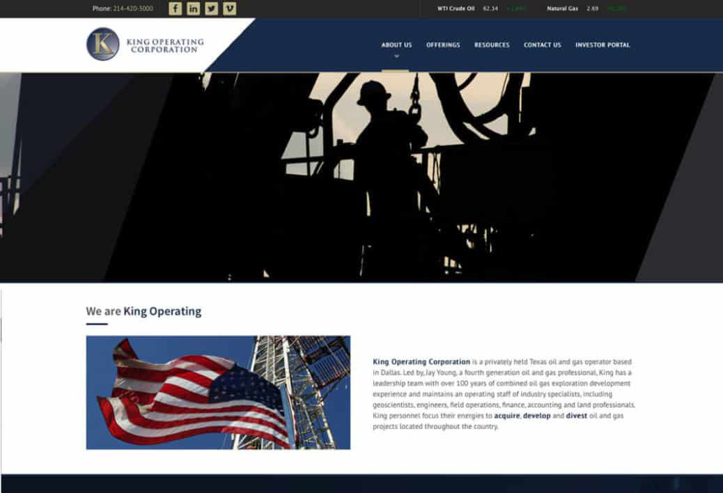 Websites Oil and Gas – John Perez Graphics