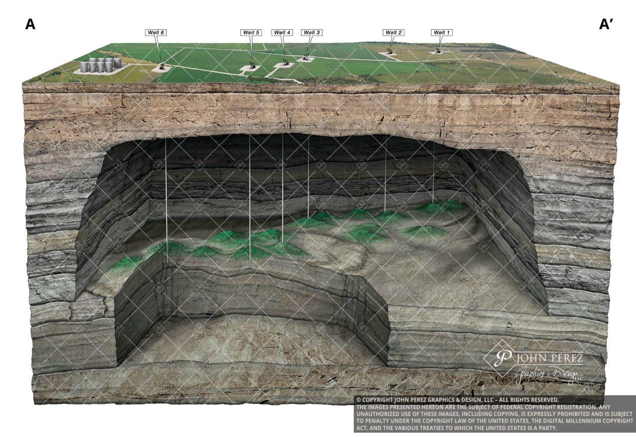 Vertical Production Oil Gas Illustration, oil gas graphic, petroleum art