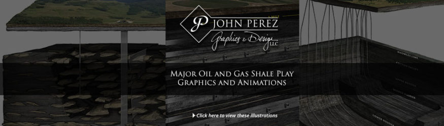 Major Oil and Gas Shale Play Graphics and Animations, oil gas graphics, dj basin, fluvial, haynesville